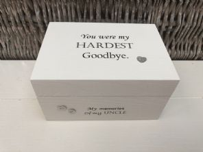Personalised In Memory Of A Loved One ~ Box ~ UNCLE ~ any Name Bereavement Loss - 232737776013